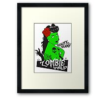Zombie Pinup #2 Framed Print