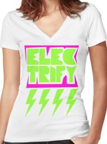 Electrify Women's Fitted V-Neck T-Shirt