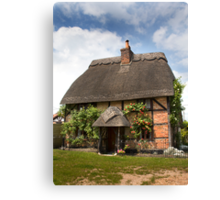 Chocolate Box Cottage Canvas Print