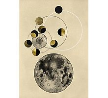Phases of the Moon Photographic Print