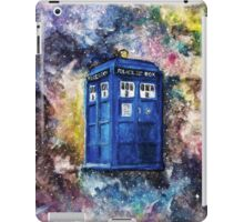 TARDIS in space watercolour art  iPad Case/Skin