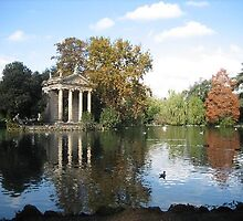 villa borghese gardens in Rome by chord0