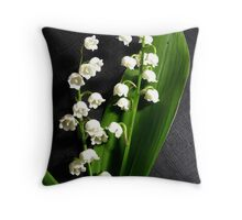 Lilly's of the Valley Throw Pillow