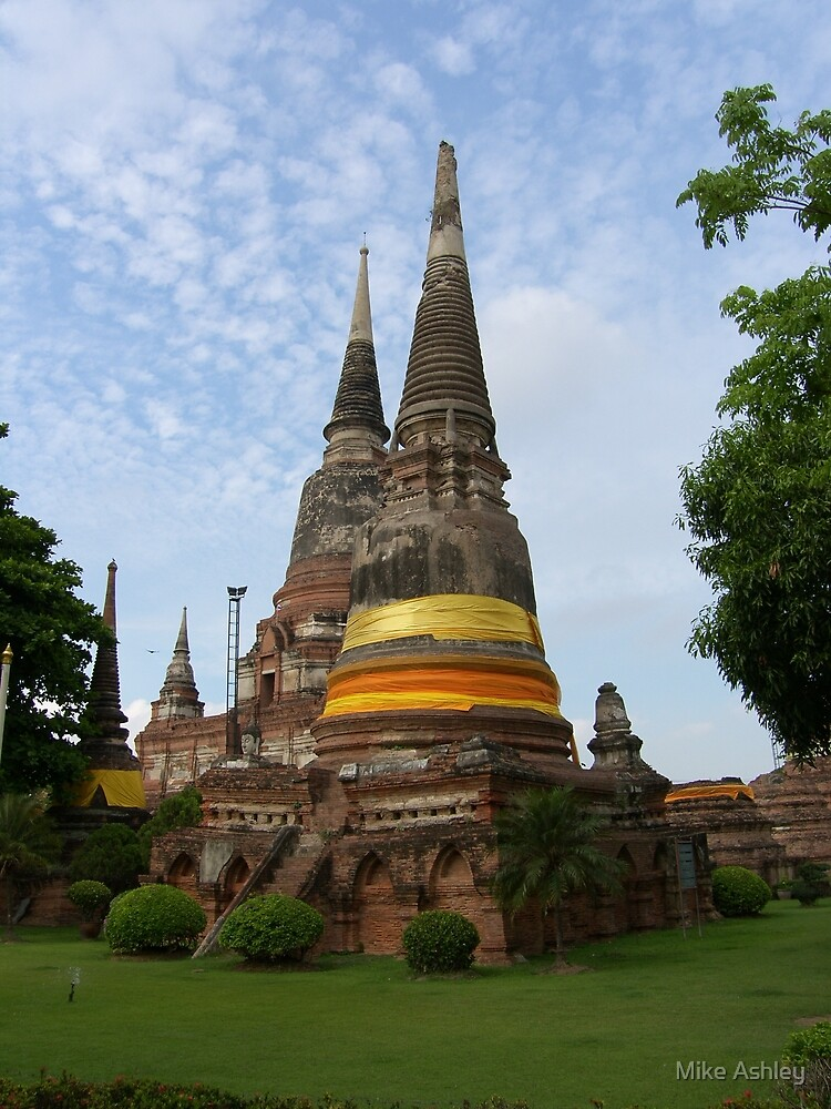 Buddhist Stupa with an Orange Ribbon by Christian Eccleston