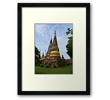 Buddhist Stupa with an Orange Ribbon Framed Print