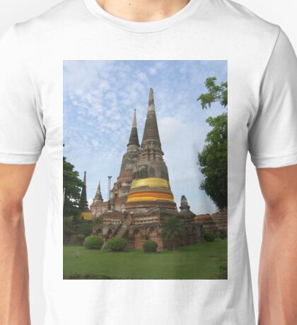 Buddhist Stupa with an Orange Ribbon Unisex T-Shirt