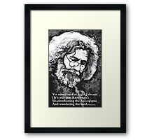 jerry watercolor  Framed Print