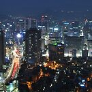 The City Of Seoul at Night by Christian Eccleston