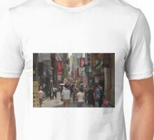 Myeondong Market in Seoul Crowded Unisex T-Shirt