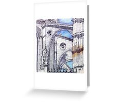 bATALHA flying buttress Greeting Card