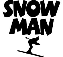 Snowman Ski by theshirtshops