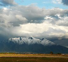 Mountains East of Springville from Provo Airport by Ryan Houston