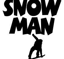 Snowman Snowboard by theshirtshops