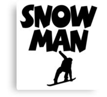 Snowman Snowboard Canvas Print