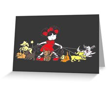 Puppy Walker - colour Greeting Card