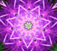 Purple and Green Kaleidoscope Mandala Sticker