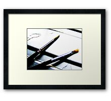 Brush Duex Framed Print