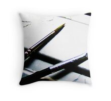 Brush Duex Throw Pillow