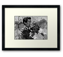 Hiroshima Mon Amour 'You Saw Nothing' - Digital Portrait Framed Print