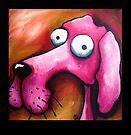 Crazy Pink Dog by StressieCat