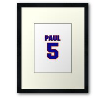 National baseball player Paul Casanova jersey 5 Framed Print