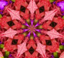 Red and Purple Kaleidoscope Mandala Sticker