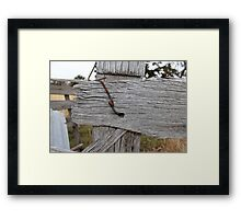 Rail Without A Nail...... Framed Print