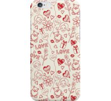 Drawing kiss iPhone Case/Skin