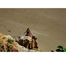 Girl On The Rocks, Compton Bay Photographic Print