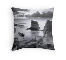 Silky Rocks Throw Pillow