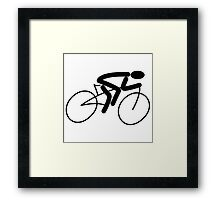 Bicycle Stick Figure Framed Print