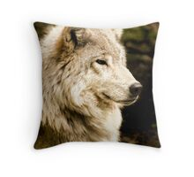 At Rest - Forest of Wolves Series Throw Pillow