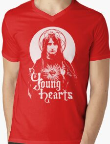 Young Hearts Be Free. Mens V-Neck T-Shirt