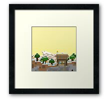 Video Game Platform Winter Piece Framed Print