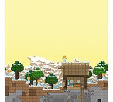 Video Game Platform Winter Piece Photographic Print