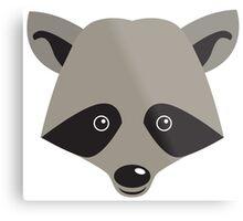Super cute racoon face Metal Print