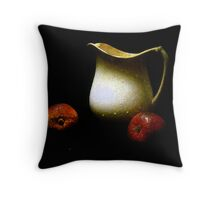 Old Pitcher with Apples Throw Pillow