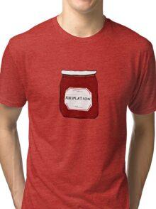 Animation Jar Bumper Tri-blend T-Shirt
