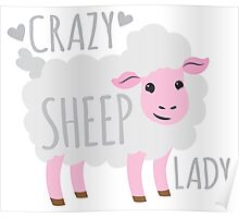 Crazy Sheep Lady Poster