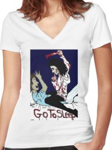 Jeff & Liu: Blood Brothers Women's Fitted V-Neck T-Shirt