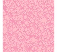 Vintage pink rectangle pattern Photographic Print