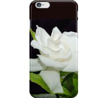 White Gardenia Against Black iPhone Case/Skin