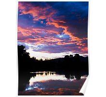 Sunset of Como Lake Poster