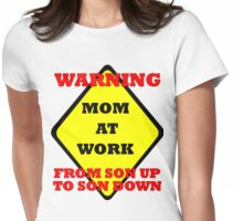 mom at work 2 Womens Fitted T-Shirt