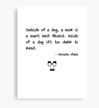 Groucho on books Canvas Print