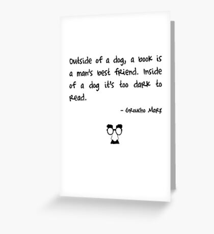 Groucho on books Greeting Card