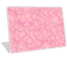 Vintage pink rectangle pattern Laptop Skin