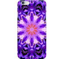 Purple Flower Floral Kaleidoscope Mandala iPhone Case/Skin