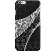 Venetian Damask, Ornaments, Swirls - Black White iPhone Case/Skin
