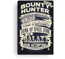 Space Bounty Hunter For Hire Canvas Print